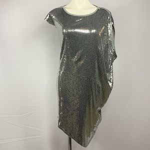 NWT Michael Kors Silver Sequined DRESS